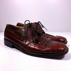 Stacy Adams Snakeskin Oxford Dress Shoes